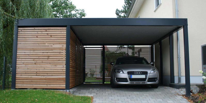 Protecting your valued car from the elements the carport for Carport aluminium glas
