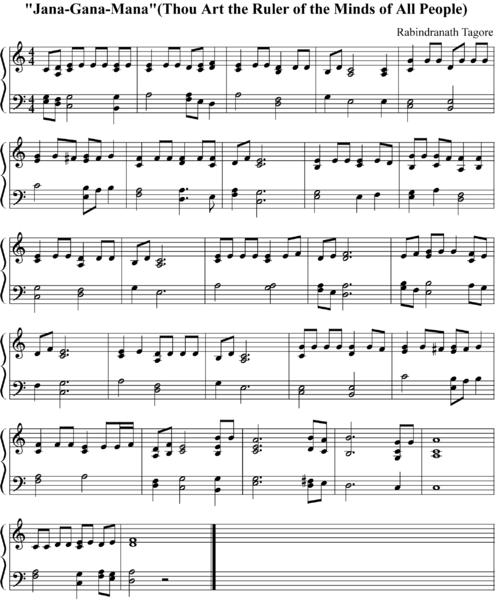 ♫ jana gana mana (indian national anthem) - easy    piano.