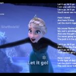 FROZEN – Let It Go song video with lyrics