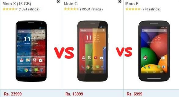 MotoG vs MotoE vs Moto X