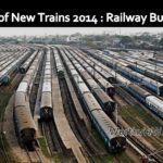 Railway Budget 2014: List of new trains
