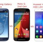 Mobile Comparison: Samsung Galaxy S3 Neo vs Moto G vs Honor 6