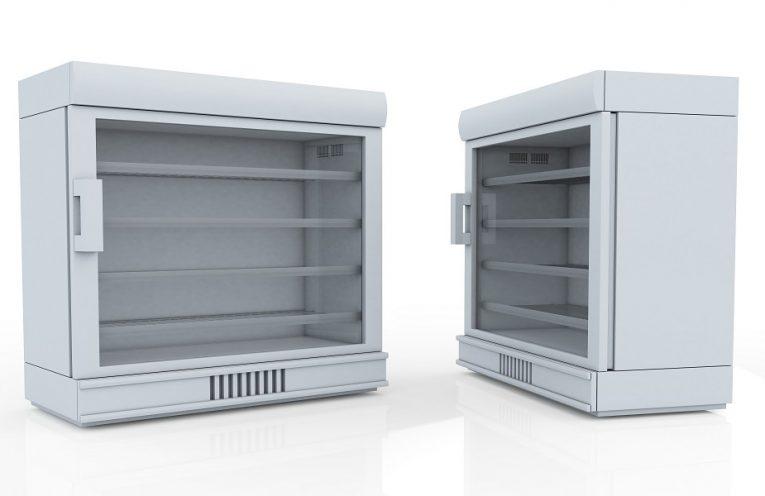 commercial glass door fridge