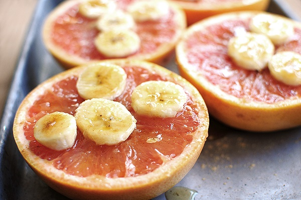Honey grapefruit and banana